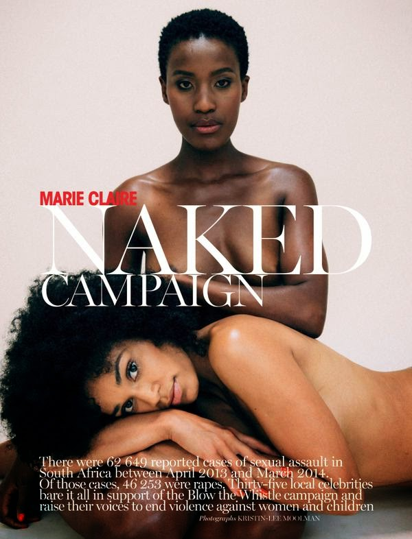 Marie Claire Naked Issue- March 2015