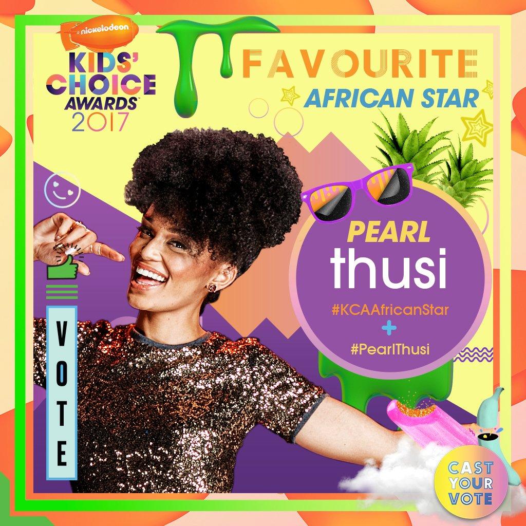 Nickelodeon Kids' Choice Awards : Favourite African Star Nomination.